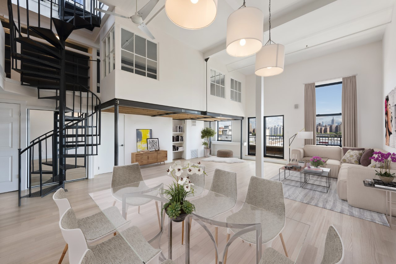True Dumbo Penthouse Loft Over 500 Sf Of Outdoor Space
